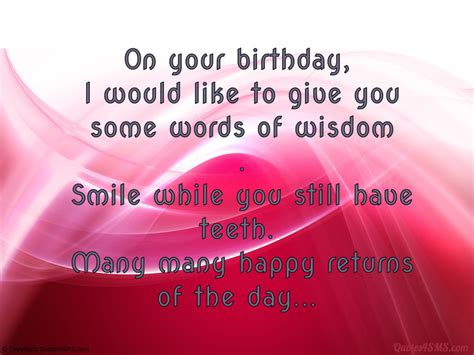 The Wisdom Of Some by Birthday Wisdom Quotes Quotesgram