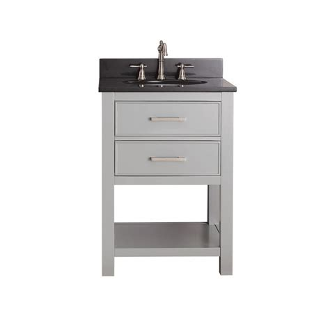 Bathroom Vanities Best Prices 24 Inch Single Sink Bathroom Vanity In Chilled Gray Uvacbrooksv24cg24