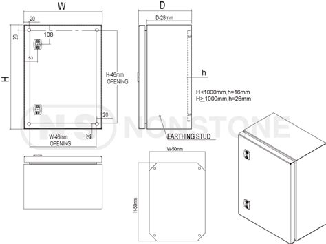 Box Panel Stainless Steel Custom 021 586 3633 stainless steel box ip66