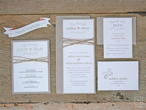 rustic twine wedding invitation set sle