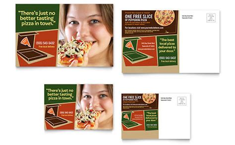 pizza gift certificate template pizza pizzeria restaurant gift certificate template design