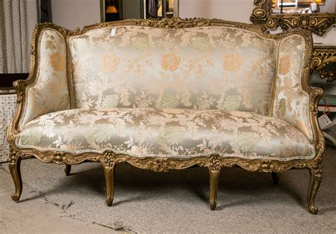 sofa in french translation louis xv style carved french sofa by jansen at 1stdibs