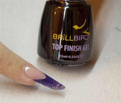 Nails C46 purple glitter nail sbs