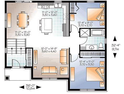 small split level home plan 22354dr architectural