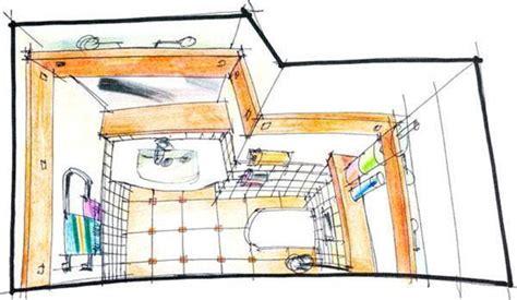 disegno di un bagno la progettazione bagno