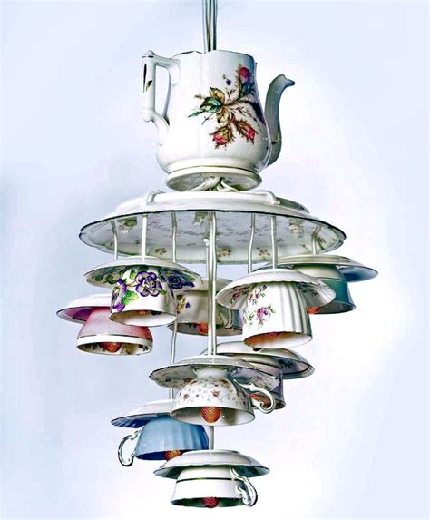 Teapot Chandelier Teacup Chandelier With Teapot Diy For