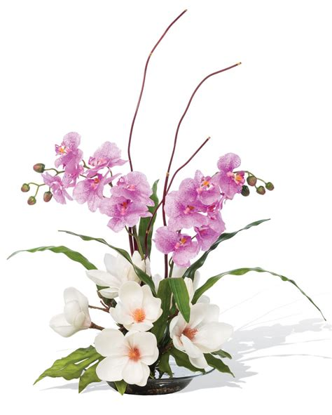 Silk Flower Arrangements by Magnolias Orchids Silk Flower Arrangement For Home And