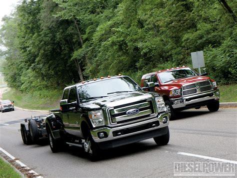 Gm Ford by 2011 Ford Vs Ram Vs Gm Diesel Truck Shootout Diesel