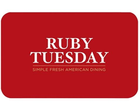 50 Off Gift Cards - ruby tuesday gift card giveaway and bogo 50 off couponericka saves