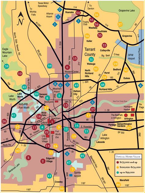 ft worth map fort worth map toursmaps