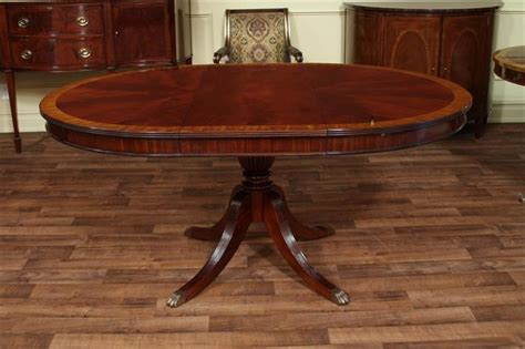 48 dining table with leaf mahogany dining