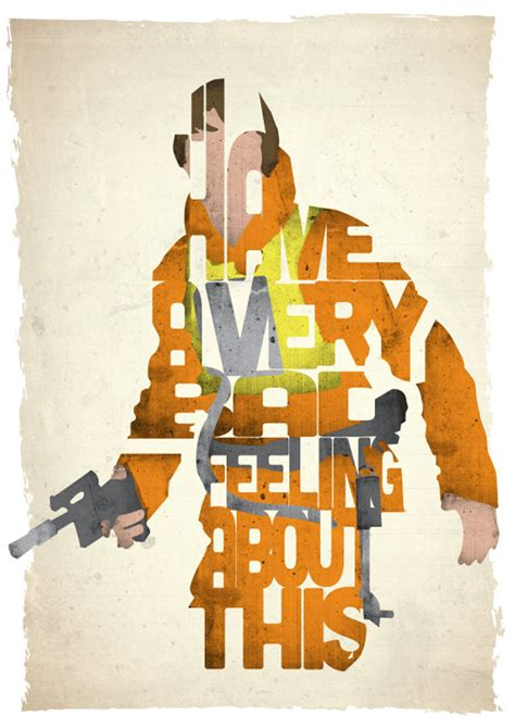 typographic star wars prints featuring iconic characters typographic star wars prints featuring iconic characters