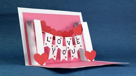 diy i you pop up card template diy card handmade i you pop up card