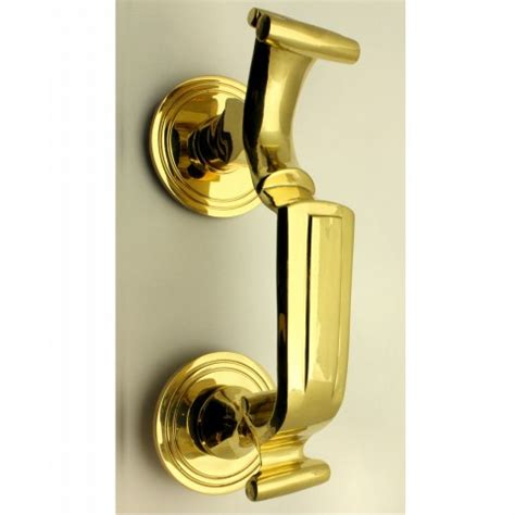 Doctors Style Front Door Knocker Polished Brass Front Door Knockers Brass