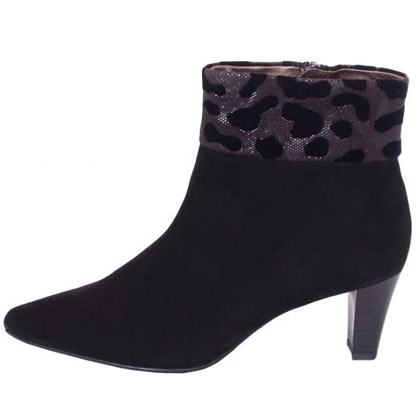 kaiser margie black suede ankle boots