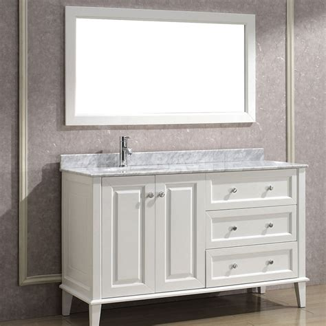 Bathroom With Vanity by Bathe 55 White Bathroom Vanity Solid Hardwood Vanity