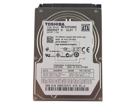 Harddisk Toshiba 320gb toshiba mk3255gsx 320gb 5 4k 2 5 quot sata drive