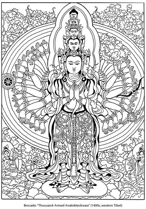 coloring pages for adults buddhist welcome to dover publications coloring pages pinterest