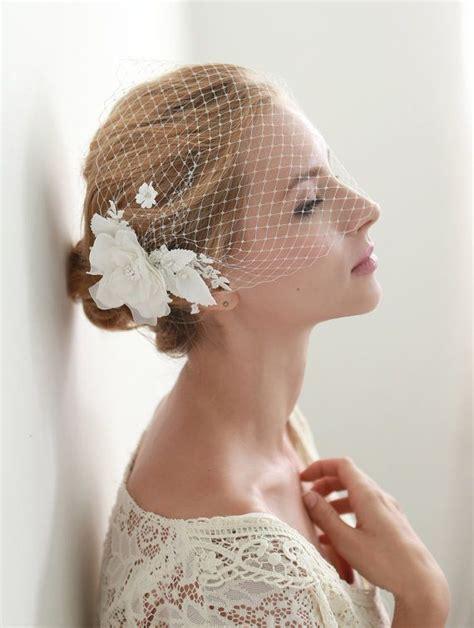 7 Birdcage Veils To Rock For Your Wedding by Flower Veil Bandeau Birdcage Veil Veil