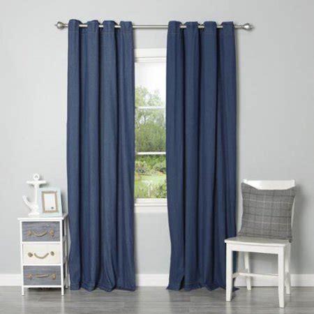 Denim Panel Top denim grommet top curtain panel pair walmart