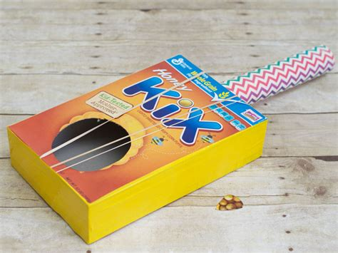 How To Make A Guitar Out Of Paper - sensory learning 183 kix cereal