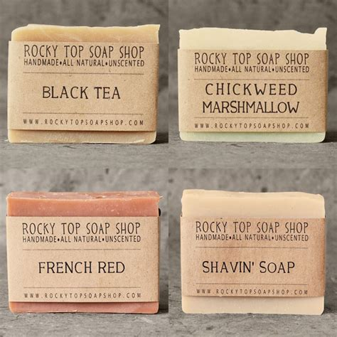 Handmade Soap Names - rocky top soap shop elephantine