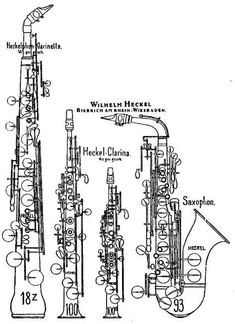 diagram of a saxophone heckelphone clarinet the wiki