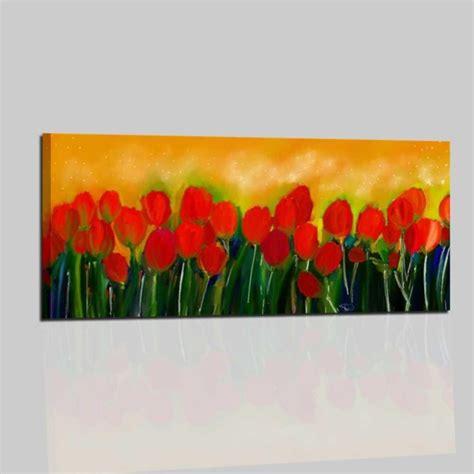 quadro fiori moderno quadri moderni dipinti a mano con fiori tulipani