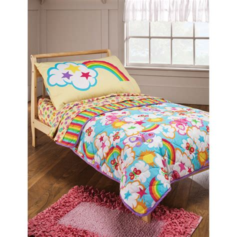 toddler bedding crayola rainbow delight 4 toddler bedding set walmart