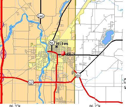 Niles Michigan Map by 49120 Zip Code Niles Michigan Profile Homes