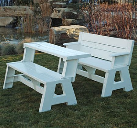 half picnic table bench garden bench with arms that converts into half a picnic