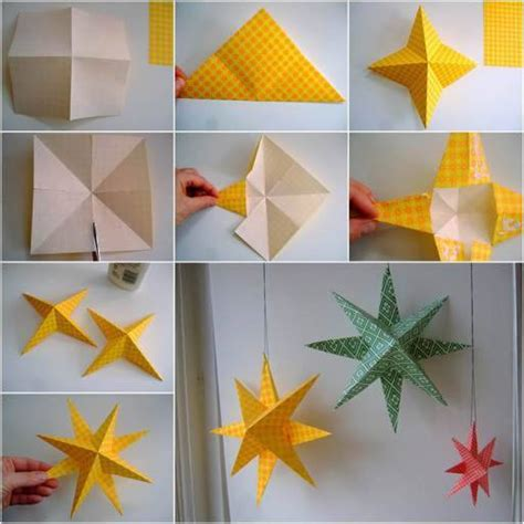 paper craft for home decoration wonderful diy easy 3d paper star decoration