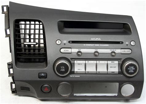 acura csx 2006 2007 factory stereo 6 disc changer mp3 cd