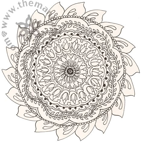 free coloring pages of buddhist mandala
