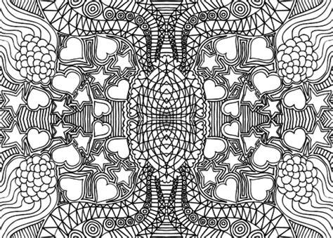 intricate heart coloring pages doodle coloring page intricate hearts and stars