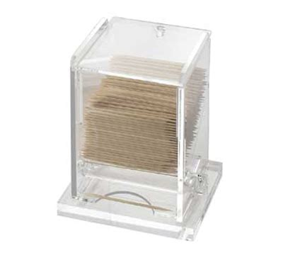 browne foodservice hltd5 stainless steel toothpick dispenser cal mil 295 clear acrylic unwrapped toothpick dispenser