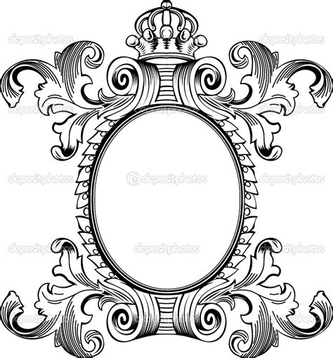 pattern frame drawing ornate scroll border clip art clipart design