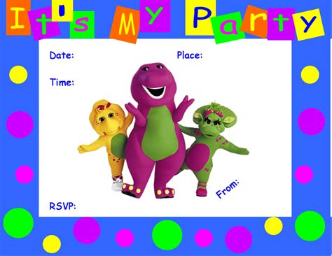 Find S Birthdays Free Free Printable Barney Birthday Invitations Search Engine At Search