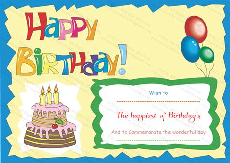 Birthday Coupon Template search results for printable birthday card template