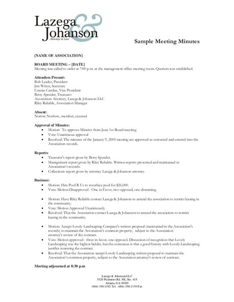 meeting minutes format free meeting minutes template for word