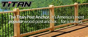 titan post anchor wood posts install fast easy amp code compliant