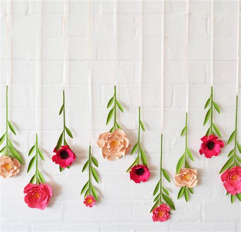Handmade Wall Hanging For Birthday - set of 10 handmade hanging paper flowers by may contain