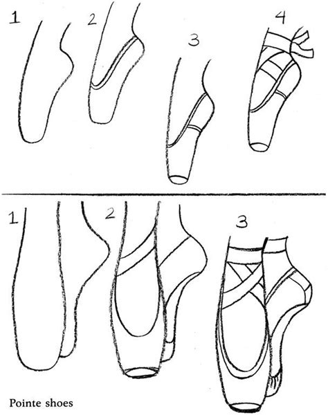 how to draw a shoe step by step for https www balletshoes drawings