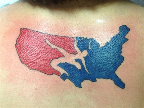 usa wrestling tattoo usa tattoos