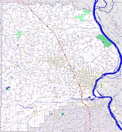 missouri map cape girardeau landmarkhunter cape girardeau county missouri