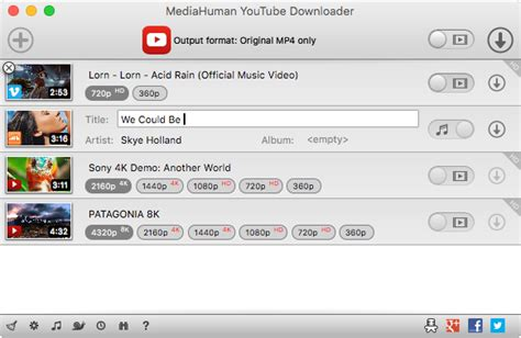 download youtube mp3 with thumbnail mediahuman youtube downloader feature rich app to