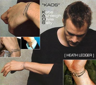 heath ledger tattoo ideas to a baby s 1st birthday