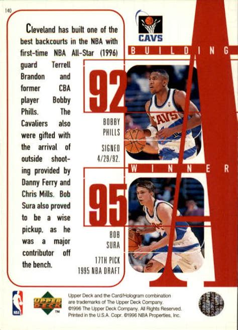 Basketball Cards Ud Sp 1996 Terrell Brando Chions Of The Court C5 1996 97 deck 140 terrell brandon danny ferry t hill