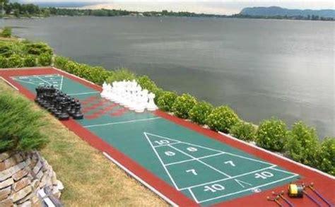 backyard shuffleboard court recreation creations keeley kraft