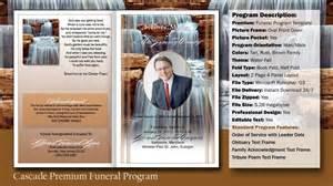 funeral program cascade template youtube